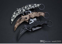 Wholesale Best Folding Karambit - FOX FA30 Karambit folding knife 440C blade camping survival tactical pocket knife hunting outdoor tools best gift Free shipping