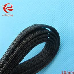 Wholesale-5M cavo intrecciato da 10 mm Guaina di cablaggio automatico per il cablaggio del cavo di nylon nero elettrico marino da