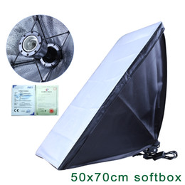 Wholesale Continuous Photo Lighting - Photography diffuser 100-240v 50*70cm Softbox E27 Lamp Holder For Studio Continuous Lighting Photo not include Bulb