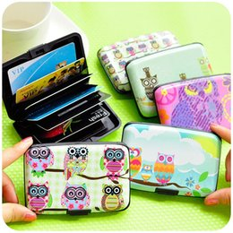 Wholesale Card Holder Zakka - Cartoon owl card & ID holder 7 slot storage cards case Creative zakka Stationery Office material school supplies 6337