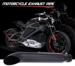 Wholesale exhaust for scooter - Motorcycle Exhaust Pipe Chrome Material for Harley Davidson Scooter,Internal baffle and adjustable clamp, convenient to install