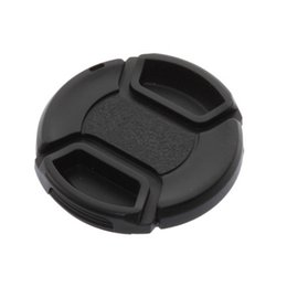 Wholesale Camera Front Lens Cap Cover - 52mm Front Lens Hood Cap Cover Center Pinch Snap-on with String Cord For All Canon Camera Lens Filter