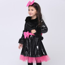Wholesale Teenage Princess Style Dresses - Halloween Costumes For Kids Girls Cat Kitty Princess Catwoman Style Dress Party Cosplay Performance Children Clothes