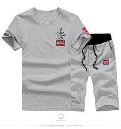 Wholesale Mens Suit Pcs - Wholesale-2 PCS! 2016 Summer Style Mens Causal Sports Suit Short Sleeve T-shirt &Shorts Fashion Male Sports Wear set Tracksuit Man t