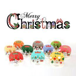 Wholesale cute korean paper envelope - Wholesale- Korean Cute 3D Christmas Card Pack-10 Christmas Cards&Envelope& 2 Sheets Sticker Set High Quality Stand Paper Envelop