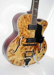 Wholesale Es Jazz Guitars - High Quality ES hollow body Jazz Electric Guitar With tremolo system Stock Wholesale OEM Musical instruments