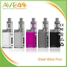Wholesale 100 Original New Product Eleaf ISTICK PICO CT Kit W Electronic Cigarettes Set with ML Melo Mini Atomizer