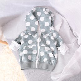 Wholesale Girls Polka Dot Cardigan - Girls Jacket Kids Clothing 2017 Autumn Long Sleeve Polka Dot Cardigan Europe and America Fashion Coat HX-527