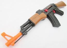 Wholesale Ak Model - Toy Machine Guns Military Soldier Friction AK-47 Toy Rifle
