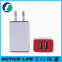 Wholesale Usb Adapter Australia - Full 2A AU Plug for Australia NewZeland USB Wall Charger AC Power Adapter For iPhone iPad Samsung Sony HTC Blackberry LG