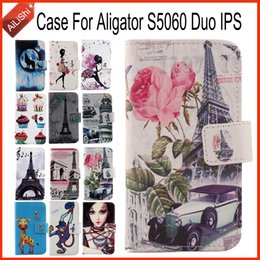 Wholesale Aligator Wallet - High Quality Leather Case For Aligator S5060 Duo IPS PU Painted Optional Flip Lovely Cartoon Protective Cover Skin Hot Sale
