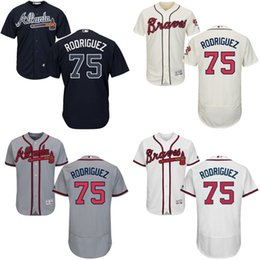 Wholesale 2016 Newest Men s Atlanta Braves Paco Rodriguez Flexbase Jerseys White Grey Blue Red Cream Baseball Jerseys Mix order