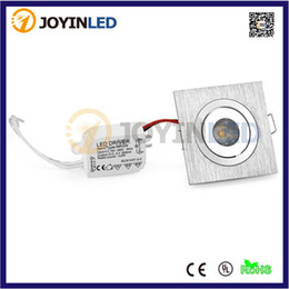 Wholesale High Power Led Spotlight Mini - Wholesale-mini square Dimmable 3W High power led recessed ceiling down light lamps small led spotlights for living room cabinet bedroom