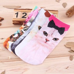 Wholesale Cute Socks Price - Wholesale-low price!1pair 3D Printed socks New Cute Low Cut Ankle Socks Multiple Colors Cotton sock Casual Charactor Socks for Men Women