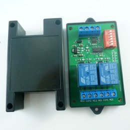 Wholesale Pump Relays - with Shell 2CH RS485 Relay DC 12V Switch Board Modbus POLL AT command PLC for PTZ camera Electric door Water pumps LED Motor