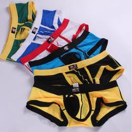 Wholesale Men S Boxers Designs - WJ Men's Boxer Shorts Penis Ball Detach Design Men Healthy Comfy Sport Underwear U Convex Sexy Boxers Gay Sleepwear Underwears