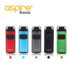 Wholesale Aspire One Battery - Original Aspire Breeze Kit all-in-one 2ML Ejuice 650mAh Battery U-tech 0.6ohm Coil Top Fill Auto-fire Feature Package Excluding Charger Dock