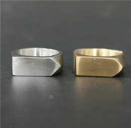 Wholesale Rings For Bikers - Size 7-13 Classical Style Biker Ring 316L Stainless Steel Man Women For Wedding Silver Band New Biker Golden Silver Dull Polishing Ring