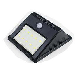 Sensores de movimento pir sem fio ao ar livre on-line-Frete via DHL 10 leds LED luz de parede solar Sem Fio PIR Sensor de Movimento Ao Ar Livre Da Paisagem Do Jardim LEVOU luzes de parede