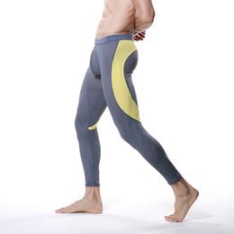 Wholesale Mesh Long Johns - Wholesale-Men Modal Long Johns Mesh Thermal Pants Elastic Trousers Thermal Underwear Leggings M-XL Hot