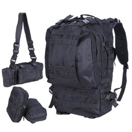 Wholesale Military Tactical Rucksack Backpack - 55L Outdoor Military Tactical Backpack Rucksack Camping Bag Travel Hiking
