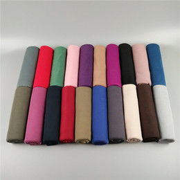 Wholesale Classic Woven - 28 Colors Solid Color Jersey Scarves Soft And Comfortable Classic Wild Autumn And Winter Warm Muslim Scarves Hijab