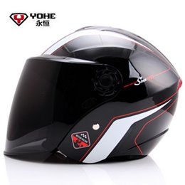 Wholesale Xl Motorcycle Half Helmet - 2016 Fashion YOHE half face motorcycle helmet electric bicycle motorbike helmets YH870A Made of ABS for men and women