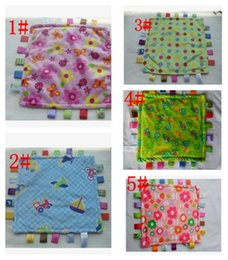 Wholesale Wholesale Baby Blanket Plush - Towel Baby Appease Calm Wipes Plush Blanket Toys Cute Soft New Infant Doll Toy Baby Towel Swaddle Wrap Blanket 30*30cm KKA2759