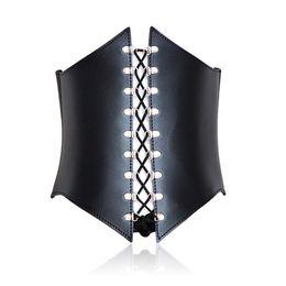 Wholesale Free Body Bondage - Free shipping Black Vest Female Body Bondage Performance Clothes Stage Props Cosplay Dress