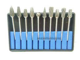 Wholesale Wholesale Carbide Bur - 10pcs Dental Burrs Dental Lab Titanium Nitrate Carbide Burs Burrs burr bur block. bur block.