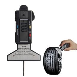 Wholesale Digital Depth Gauge Tyre - Wholesale-Digital Depth Gauge 0-25.4mm 0.01 Electronic LCD Tire Tyre Wheel Tread Depth Brake Gage Measuring Tools