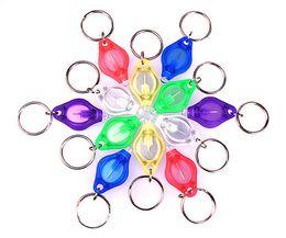 Wholesale Mini Led Keychain Light Red - 7 Color LED Lights Mini Light LED Bulbs LED Flashlight Ton II Photon 2 Micro Light Mini Torch Key Chain Ring Keyring Car Keychain 7E