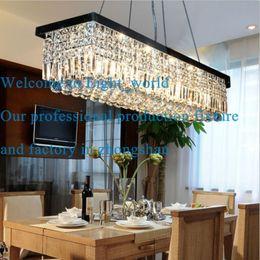 Wholesale Chandelier Raindrop Lighting - 100cm Polished Chrome Modern Crystal Pendant Ceiling Lamp Raindrop Design Chandelier Lighting Free Shipping