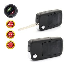 Wholesale Security Car Cameras Recorders - Mini Car Key Chain Hidden Spy Camera Pinhole Security DVR Video Recorder Cam HD 720P Key Chain Hidden Spy Camera Pinhole Security DVR