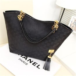 Wholesale Decoration Interiors - Women Shoulder Bags New High Quality Canvas Chain Fashion Casual Handbag Fringed Decoration Single Chain Bag Wholesale Letter Bags