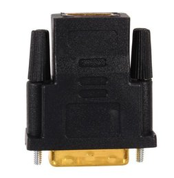 Wholesale Lcd 24 - Gold Plated DVI 24+1 HDMI Convert Male to Female Adapter Converter Cable Cabo for HDTV LCD