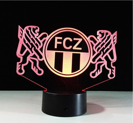 Wholesale Pouring Light Lamp - Wholesale- Changeable table lamps FCZ Trophy Night Light 3D Visual USB Flexible Nightlight Acrylic plates Veilleuses Pour Enfants lampara