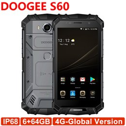 Wholesale Water Proof Mp3 - DOOGEE S60 IP68 Waterproof Global 4G Smartphone 5.2 Inch Android 7.0 Octa Core 6GB RAM 64GB ROM 21MP Fingerprint 5580mAh
