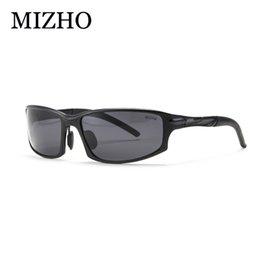 Wholesale Aluminium Wrap - Wholesale- MIZHO Brand UV400 oculos de sol masculino FDA Certification Polaroid Wrap Black 2017 Sunglasses Men Polarized Aluminium