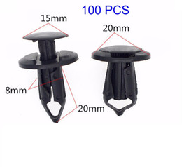 Wholesale 8mm Clips - 100pcs 8mm Hole Plastic Rivets Fastener Push Clips Black for Car Auto Fender Free shipping YY094