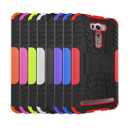Wholesale Asus Cell Phones - wholesale dazzle case for ASUS Zenfone 2 Laser ZE601KL 6.0inch cell phone case tpu+pc cases protective shell dazzle kickstand back cover