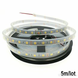 Wholesale Wholesale Fish Tank Decorations - Silicone Cannula IP67 Waterproof 5050 5M LED Strip light DC12V 60LEDs M Ribbon Tape Decoration Swimming Pool  Fish Tank Bathroom