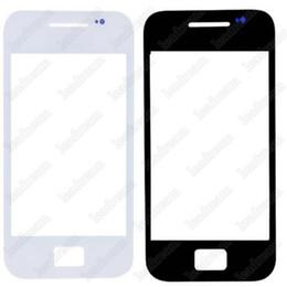 samsung ace pantalla táctil Rebajas Nuevo reemplazo de vidrio de la pantalla táctil exterior delantera para Samsung Galaxy Ace s5830 negro blanco DHL gratis