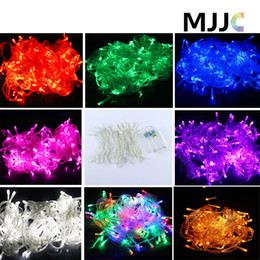 Wholesale Lighting Curtains Weddings - 5M 50LED Battery Power Operated String Fairy Lights XMAS Christmas Party Wedding Decoration Pink Purple Red Blue Green Warm Cool White