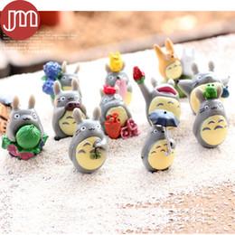 Wholesale Japan Anime Figures - New 12 PCS Hayao Miyazaki CATBUS Totoro My Neighbor DIY Anime Mini Figures Ha yao Japan Cartoon Micro Landscape Decorations Toys