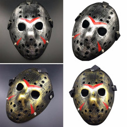 Wholesale Old Men Mask - Vintage New Make Old Cosplay Halloween Mask Jason Voorhees Freddy Hockey Festival Party Halloween Masquerade Mask
