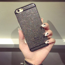 Wholesale Candy Case Iphone5s - Bling Shining Glitter Diamond Girl Soft TPU Phone Case Back Cover For For iphone4S iphone5S iphone6 6S i6plus candy 9 colors