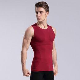 Wholesale Mens Sleeveless Tees - Wholesale-Mens Crewneck Athletic Sport Vests Tank Tops Training Bodybuilding Sleeveless Gym Tee Shirts