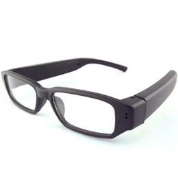 Wholesale Hd Dvr Glasses - HD 720P Mini Glasses Camera Eyewear Camera Video Recoder Portable Security Camcorder Mini Sunglasses DVR Candid Camera