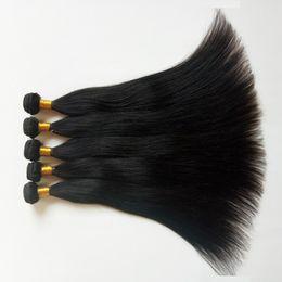 Extension de cheveux indiens européens indonésiens brésiliens vierges brésiliens non transformés avec armure droite 10pcs / lot machine double trame ? partir de fabricateur